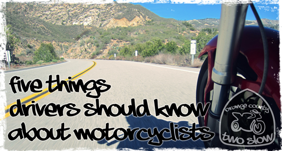 five things drivers should know about motorcyclists